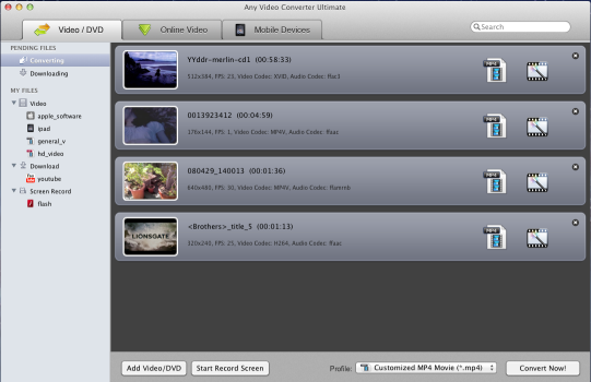 Main Window of Video Recorder for Mac