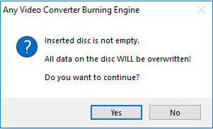 DVD burning engine