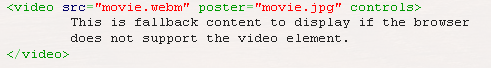 Embed Video Using HTML5