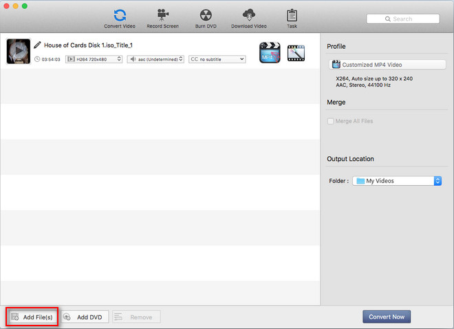 Add ISO image to Any Video Converter Ultimate Mac