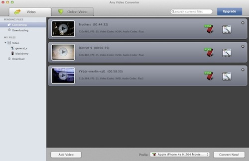 add video files to Any Video Converter Free for Mac
