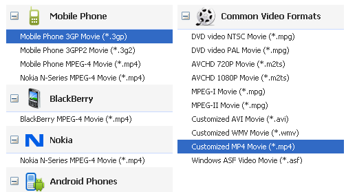 video converter for Sony Xperia SL