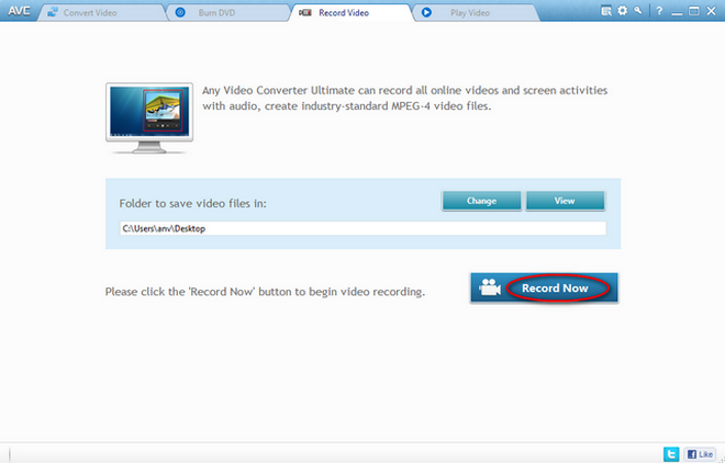 record video with Any Video Converter Ultimate