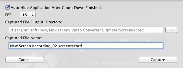 record screen settings